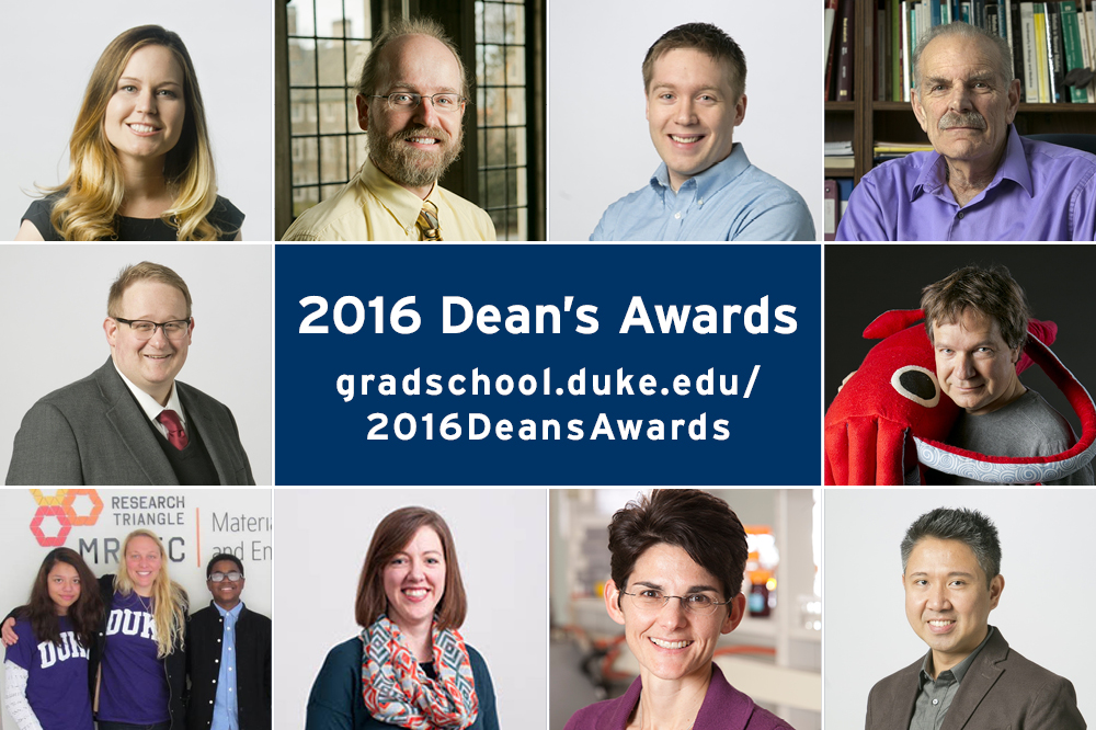 2016 Dean's Award winners