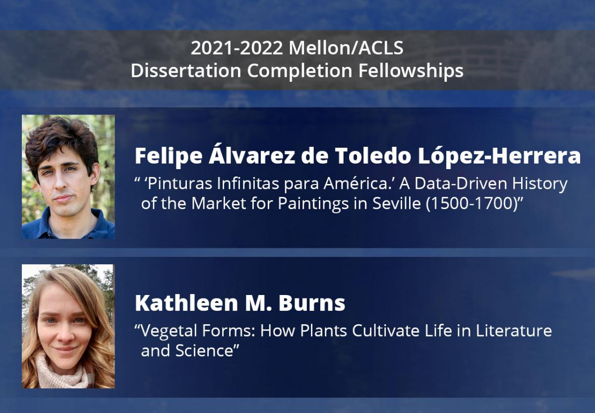 ACLS fellowship recipients and their dissertation titles