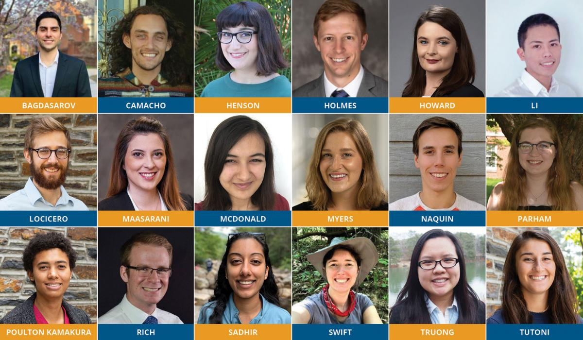 Duke's NSF GRFP recipients for 2021