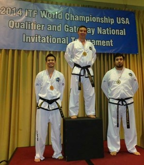 Gold medal in patterns at Nationals in Houston, Texas in 2014