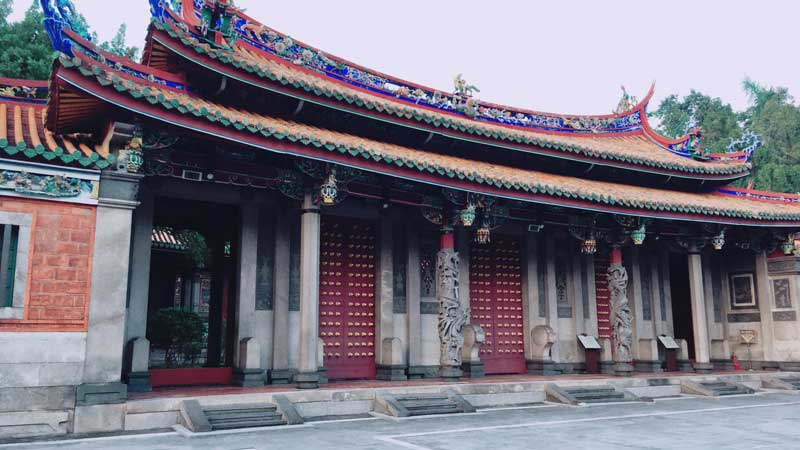 Photo: Bao-an Confucian Temple in Taipei.