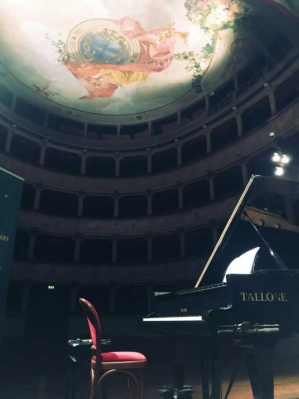 "Photo: Before the premiere of my new piece for flute, piano and electronics, ""Lattice Scattering,"" at the Teatro Degli Illuminati."