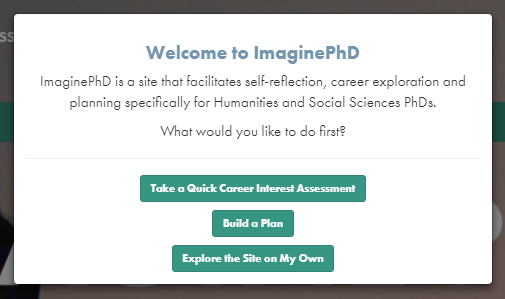 ImaginePhD welcome