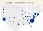 Duke PhDs across the United States