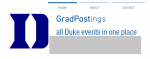 GradPostings mockup screenshot