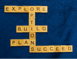OPTIONS acrostic with Explore, Build, Plan, Succeed